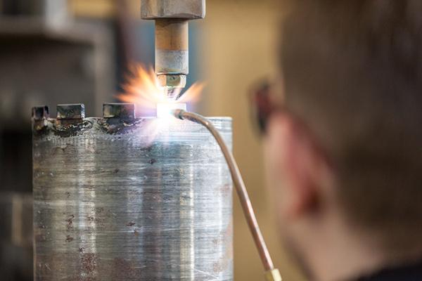 Produktion von Diamant-Bohrkronen